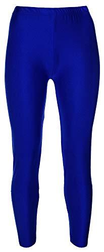 Drei Kostüm Königreich - Re Tech UK - Mädchen Leggings - für Gymnastik, Tanzen & Ballett - glänzend - elastisch - Königsblau - 3-4 Jahre