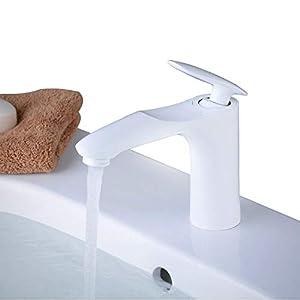 Grifo Lavabo Grifo Baño Pintura Negra Alta Calidad Monomando Lavabo Grifo de Cuenca Griferia Lavabo y Baño Aireador…
