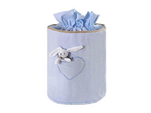 Câlin Câline - Caja infantil para juguetes con peluche, color azul