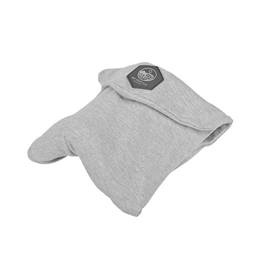 Maverick - Almohada de viaje cervical viscoelástica y cómoda de algodón, sin calor, ideal para el avión o el coche. Cojín reposacabezas de viaje para cuello y cervicales. Cuida de tu salud. Calidad Premium