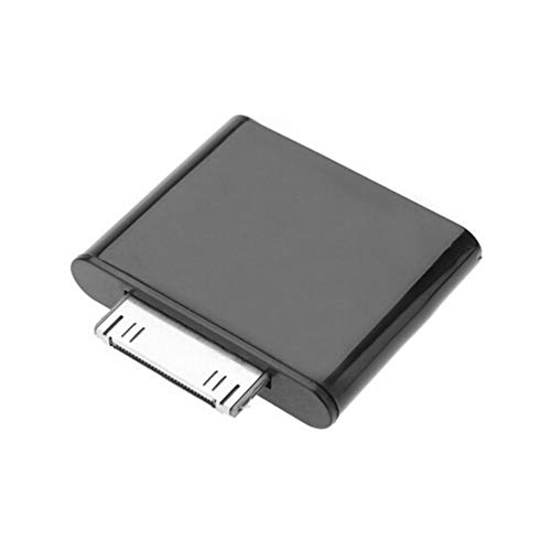 Ipod Nano Dock Stereo (30PIN Wireless Audio Transmitter Drahtloser Stereo-Audio-Adapter Dongle V2.1 Transmitter für die iPod-Serie - Schwarz)