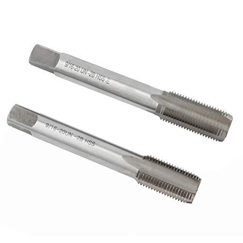 LIOOBO 2 STÜCKE Fahrrad Pedal Wire Attack Kurbel Tap Stahlgewindebohrer Dental Maschine Hand Links und Rechts (Silber)