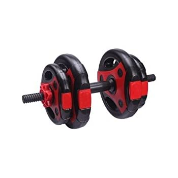 LiveUP Sports - Kit 10Kg 1 Mancuernas Discos Placa ABS Pesos Entrenamiento Gimnasio Home Fitness