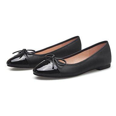 Confortevole ed elegante piatto scarpe donna Appartamenti Primavera / Estate / Autunno / Inverno Comfort / Round Toe / punta chiusa Casual tacco piatto Bowknot Nero / Mandorla Black