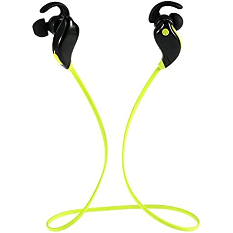 thanly Bluetooth V4.1Cuffie in ear auricolari wireless EDR stereo auricolare Sport sweatproof cancellazione del rumore con microfono per iPhone SE 55S 66S Plus Samsung S3S4S5S6S7, HTC, LG ecc. - 2 Air Bag Spacer