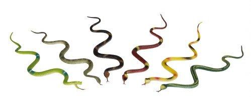 Gummischlangen 8erSet je 30cm bunt Schlange Schlangen Kindergeburtstag Mitbringsel Tiere -