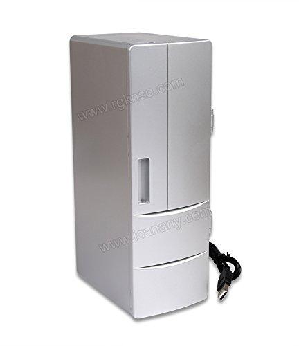 Preisvergleich Produktbild RUIRUI Tragbare praktische Mini-USB-Kühlschrank Office Desktop-PC Auto Kühlschrank Gefrierschrank Getränk trinken kann kühler...