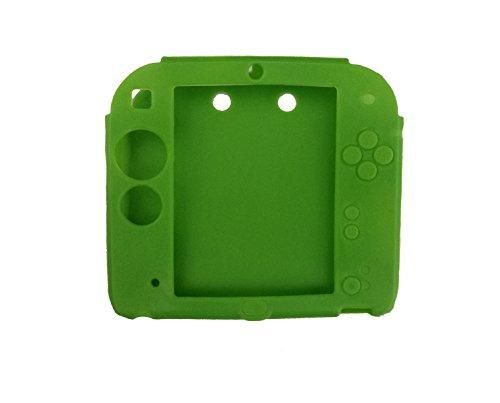 koolip Weich Silikon Gel Haut Schutz Hülle für Nintendo 2DS Anti-Rutsch Staubdicht Grün