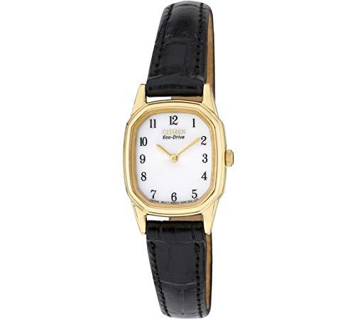 Citizen Damen-Armbanduhr Eco-Drive Goldton Schwarz Armband