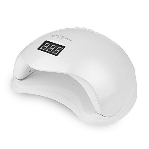 Vinteky Lampada LED unghie /Nail Dryer lampada UV professionale 48W ,fornetto asciuga smalto in gel con 4 timer 10s, 30s, 60s, 99s.Adatto per UV/LED in gel unghie manicure,48W in sensore automatico ?? ??