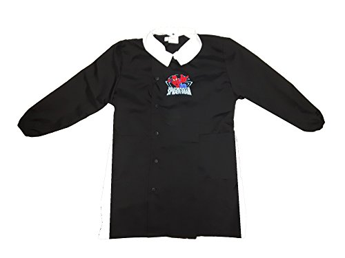 Grembiule scuola bimbo con bottoni spiderman marvel nuona collezione art. g054 (80, nero)