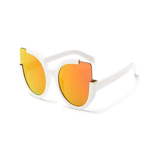 Sportbrillen, Angeln Golfbrille,Cat Eye Sunglasses Women Brand Designer Vintage Sunglass Fashion Driving Sun Glasses For Women Cateye Glasses UV400 White
