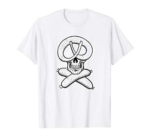 Weißwurst Breze Pirat - lustiges shirt für Frauen und Männer