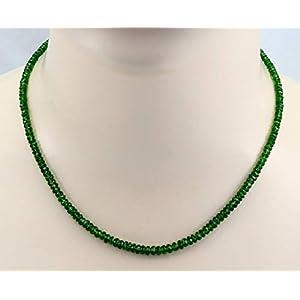 Chromdiopsid-Kette grün facettiert 45 cm lang