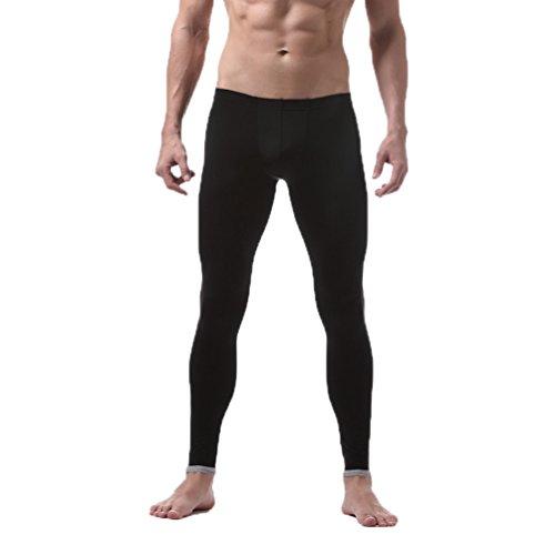 ZKOO Termico da Uomo Lunghi Pantaloni Termici Stretto Intima Termica Sottile Caldo Legging Nero