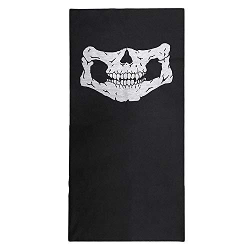 VCB Schädel Sturmhaube Traditionelle Gesichtsschutz Kopfbedeckung Maske Gator Black NWT - weiß + schwarz