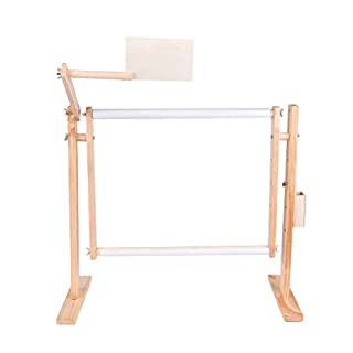 1 Pcs Adjustable Cross Stitch Floor Stand,Wooden Frame Embroidery Cross Stitch Needlework Lap Frame Craft Tool by HONGTIAN