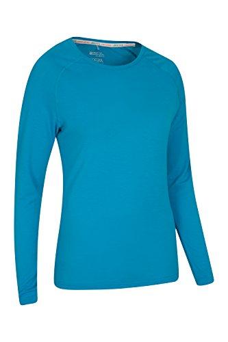 Mountain Warehouse Isocool Dynamic Langärmliges Damen-T-Shirt mit schnelltrocknendem Gewebe Türkis
