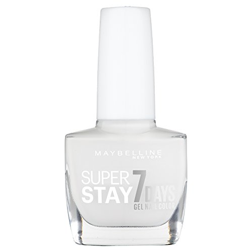 Maybelline New York Make-Up Super Stay Nailpolish Forever Strong 7 Days Finish Gel Nagellack Snowed In / Farblack mit ultra starkem Halt ohne UV Lampe in hellem Weiß, 1 x 10 ml (Make-up Forever Uv)