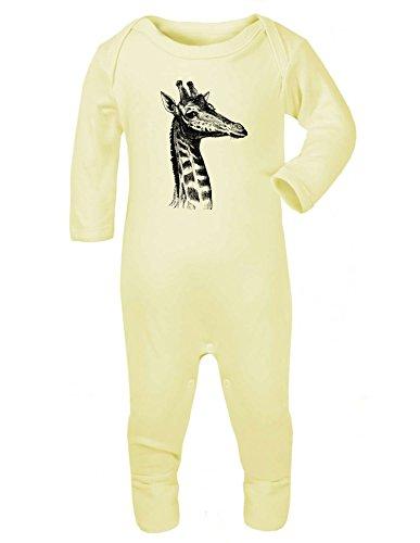 Giraffe headbbaby Grow gelb