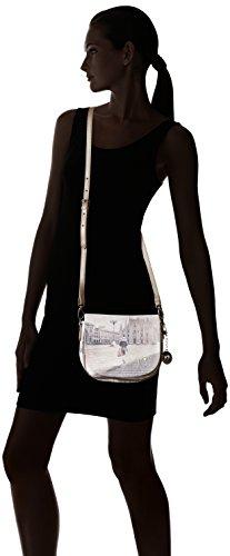 Ynot Damen I-353 Umhängetasche, 22x17x12.5 cm Mehrfarbig (Fashion Shopping)