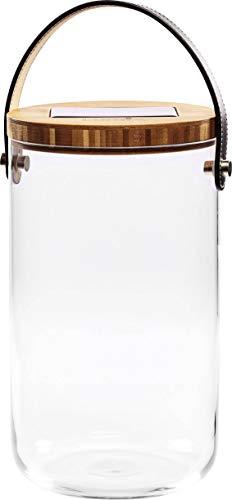 Krinner Deco Glass Long 22510 Dekoleuchte LED Warm-Weiß Klar, Bambus, Schwarz