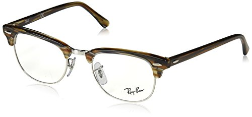Ray-Ban Unisex-Erwachsene 0RX 5154 5749 49 Brillengestelle, Braun (Brown/Grey Spped)