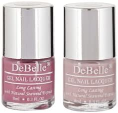 DeBelle Nail Polish Combo Set of 2 (Light Majenta & Pastel Purple)