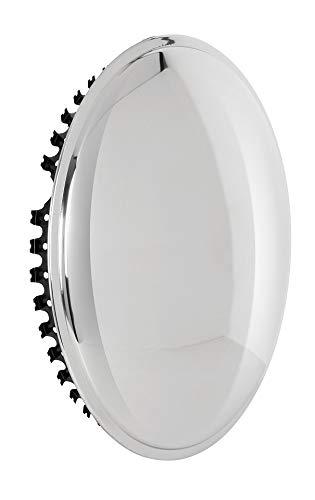 Universell passendes Radzierblendenset (2 Stück) 13 Zoll - Moon Caps für PKW, Oldtimer, Youngtimer (aus hochglanzpoliertem Edelstahl)