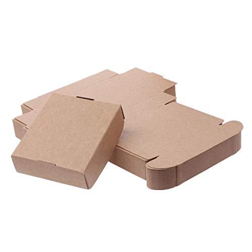 zhiwenCZW 50 Stücke Brown Kraftpapier Box für Party Geschenk Hochzeit Gefälligkeiten Süßigkeiten Schmuck Verpackung