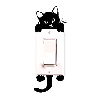 LSAltd Home Decor Cute Cat Wall Stickers Light Switch Decor Decals Home DIY Decoration
