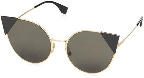 Fendi ff 0190/s 2m 000 57, occhiali da sole donna, oro (rose gold/brown ar)