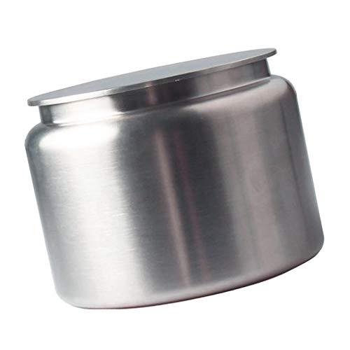 P Prettyia Pot de Conversation Boîte en Acier Inoxydable Stockage de Thé Café Céréales Grain Herbe Sucre