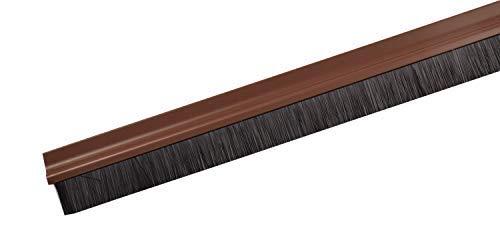 Unbekannt Türbodendichtung 100cm Bürstendichtung Gummidichtung Türdichtung Zugluftstopper, Modell:75055-Bürste braun
