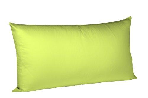 fleuresse Colours Kissenbezug, Mako Satin, apfelgrün, 40 x 80 cm (Satin-bett-kissen)