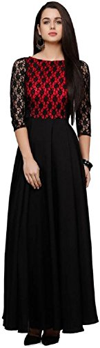 Aroma Lifestyle Women's Black A-Line Maxi Dress