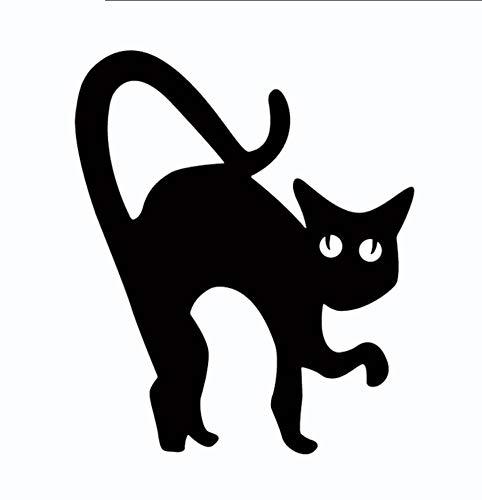 Qhrdp Halloween Vinyl Wandaufkleber Cartoon Spooky Black Cat Scary Halloween Wandtattoo 20X16.7Cmx2Pcs
