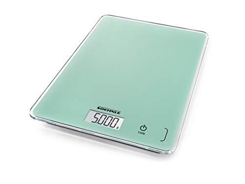 Soehnle Page Compact 300, digitale Küchenwaage, Mint  To Be, Gewicht bis zu 5 kg (1-g-genau), Haushaltswaage mit patentierter Sensor-Touch-Funktion, elektronische Waage inkl. Batterien