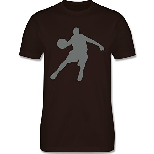 Basketball - Basketballspieler - Herren Premium T-Shirt Braun