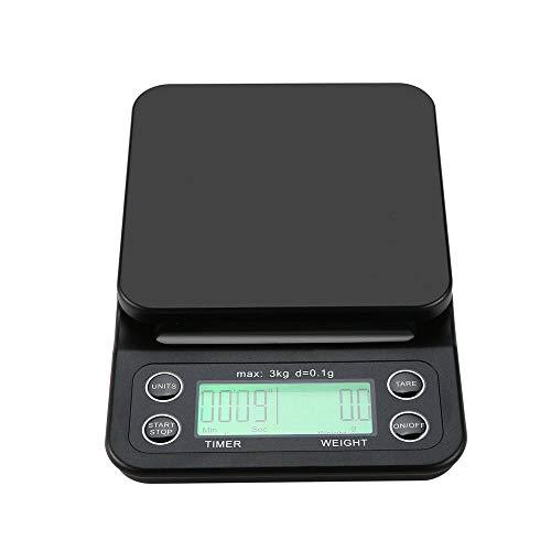 Zhangyuge 3 kg / 0.1g lcd digitale elettronica bilancia da cucina cibo caffè pesatura antigoccia timer vedere la versione originale inglese,borgogna