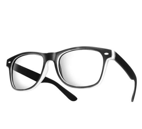 NEW UNISEX (Damen Herren) Lesebrille +1.5 Retro Vintage Brille SUNGLASSES Shades UV400 Protection Morefaz(TM) (Lesebrille + 1.5 Rubbi schwarz)
