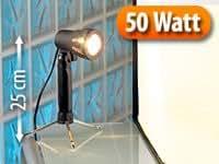SOMIKON Fotolampe mit schwenkbarem 50-W-Halogen-Reflektor