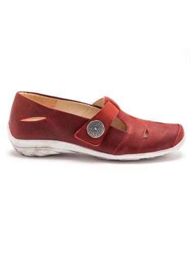 Pediconfort - Salomés en cuir, ultra souples - femme Rouge