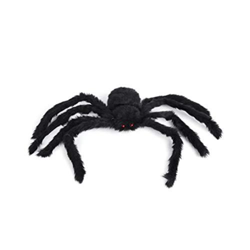 16Jessie Halloween-Spinnen Schwarz Groß Haarige bewegliche Spinne Halloween-Dekorationen Halloween-Spinne im Freien für Spukhaus Draussen Hof - Hunde Und Spinne Kostüm Streich