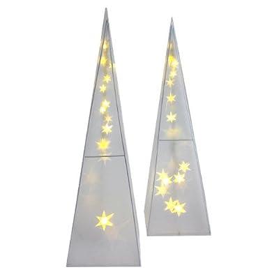 2 Stück LED Leuchtpyramide 45cm Fensterdekoration Tischdekoration Weihnachtsbeleuchtung von Multistore 2002 auf Lampenhans.de