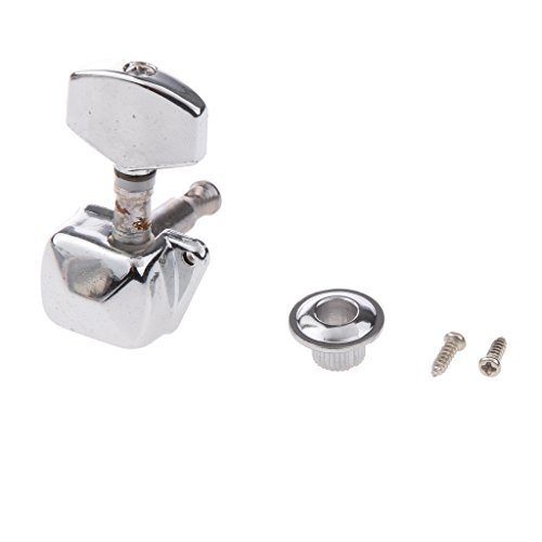 Generic Silver Electric Acoustic Guitar Machine Head Tuning Peg w Ferrule Screw Set  available at amazon for Rs.210