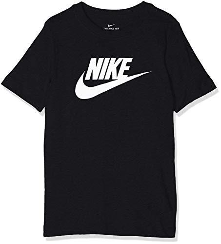 Nike B NSW tee Futura Icon TD T Shirt, Niños, BlackWhite, M