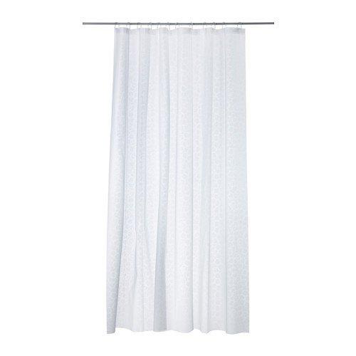 IKEA Duschvorhang INNAREN weiß 180 x 200 cm aus PEVA