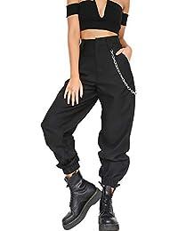 Zilcremo La Mujer Casual Estampado Camuflaje Pantalones Pantalones Cintura  Elastica Full Length 31eca35a50f