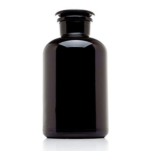 Infinity Jars 2 Liter (68 fl oz) Black Ultraviolet All Glass Refillable Empty Apothecary Jar by Infinity Jars Glass Candy Apothecary Jar